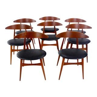 Danish Modern Dining Chairs Designed by Hans Wegner - Set of 8 For Sale