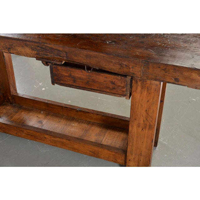 19th Century French Carpenters Workbench Table For Sale - Image 10 of 13