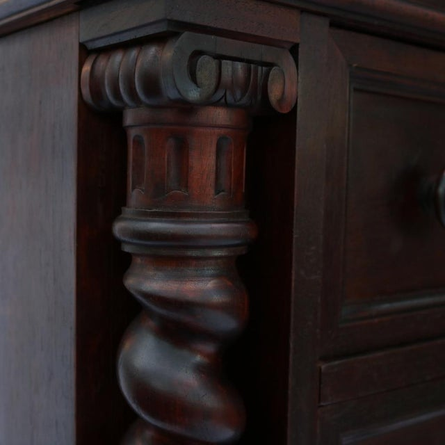 1870 Renaissance Revival Carved Walnut Dresser - Image 5 of 11