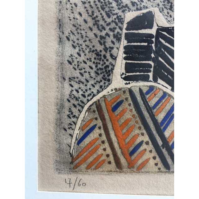 Vintage Original Lithograph Abstract by Jean Lauthe For Sale In Philadelphia - Image 6 of 7
