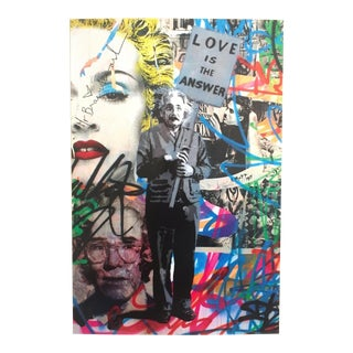 """Mr. Brainwash """" Love Is the Answer """" Rare Authentic Lithograph Print Pop Art Poster For Sale"""