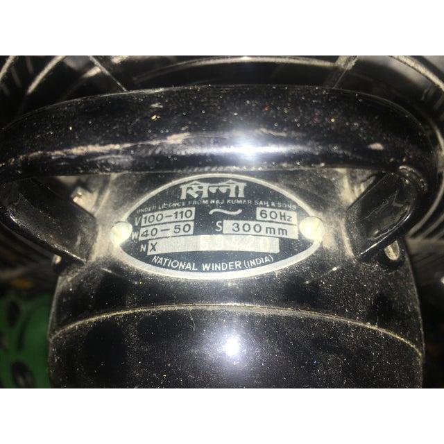 Vintage Cinni National Winder Fan For Sale - Image 4 of 5