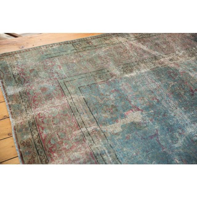 """Vintage Distressed Tabriz Square Carpet - 11'10"""" X 13'11"""" For Sale - Image 12 of 13"""