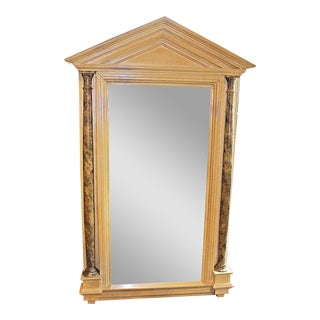 Empire Style Tall Pillared Mirror For Sale