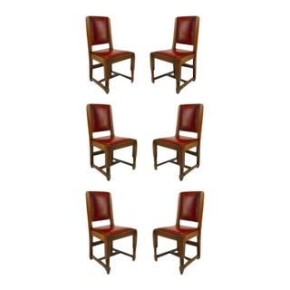 American Mission Oak Side Chairs - Set of 6 For Sale