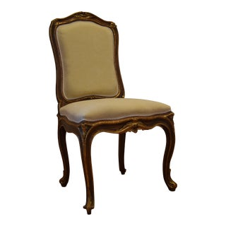 Mid 18th Century Style Italian Hand Carved Wood Chair For Sale