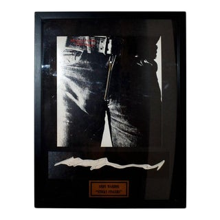 Andy Warhol Rolling Stones Signed Sticky Fingers Album For Sale