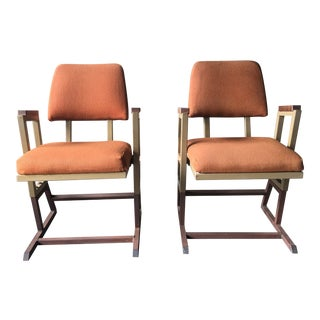 Frank Lloyd Wright Theater Chairs - a Pair For Sale