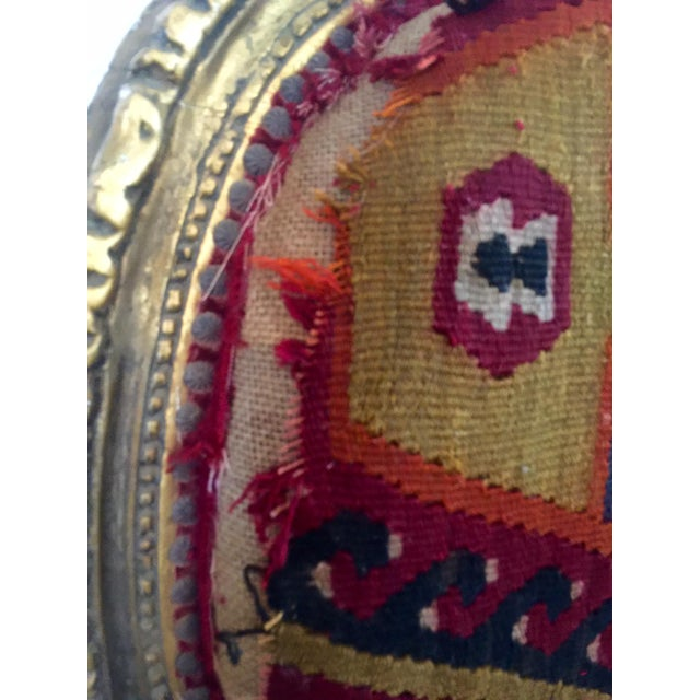 Boho Chic Amazing French Arm Chair Covered in an Antique Turkish Kilim Fabric For Sale - Image 3 of 11