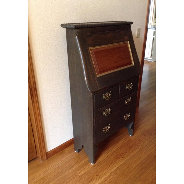 19th Century Arts and Craft Oak Secretary Desk For Sale - Image 10 of 10