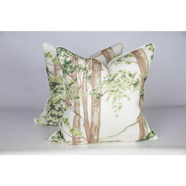 Custom Green Woodland Pillows - A Pair - Image 4 of 5