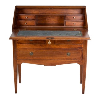 19th Century Louis XVI Walnut Desk/Writing Table For Sale