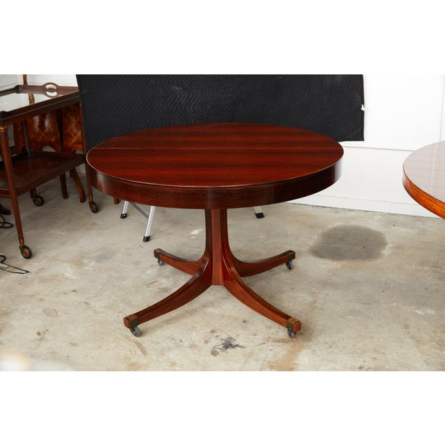 Midcentury Italian Convertible Dining Table With Self Containing Leaf For Sale - Image 9 of 9