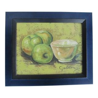 Still Life Painting of Apples