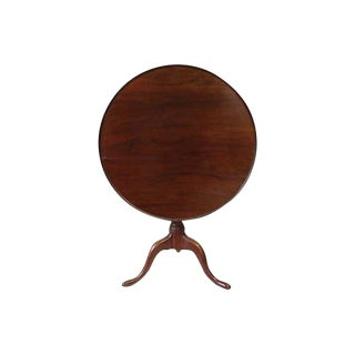 Mid 18th Century American Bird Cage Tilt Top Table For Sale