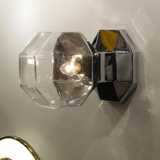 Metal Motoko Ishii for Staff Leuchten Modulare Chrome and Glass Light For Sale - Image 7 of 10