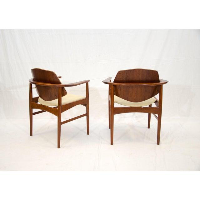 Mid-Century Modern Set of Six Danish Teak Dining Chairs, Arne Hovmand Olsen For Sale - Image 3 of 13