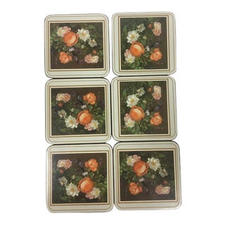 Pimpernel De Luxe Finish Classical Rose Coasters - Set of 6 For Sale