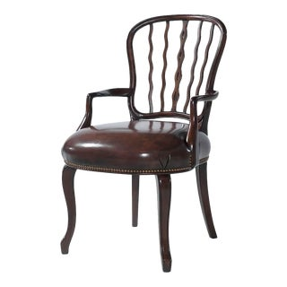 George III Hepplewhite Style Mahogany Dining Armchair For Sale