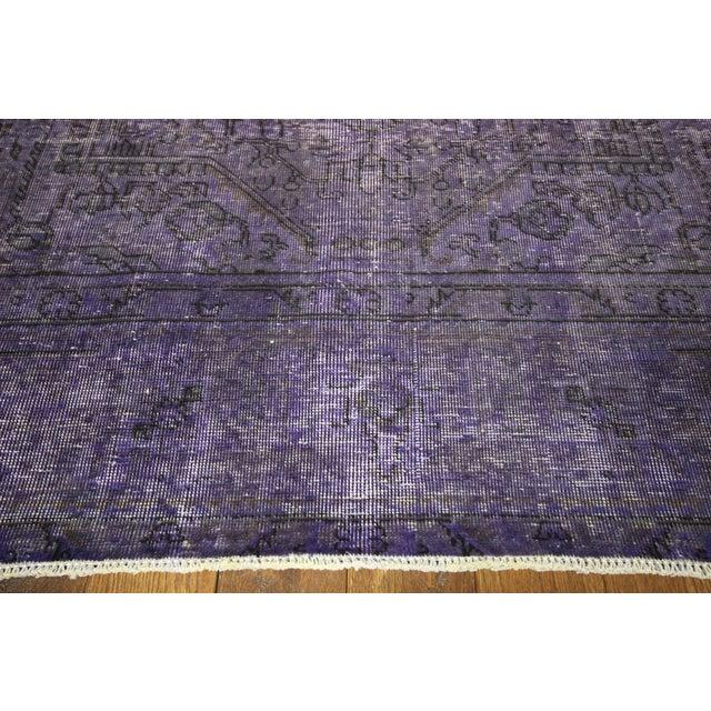 """Purple Overdyed Wool Rug - 9' 7"""" x 12' 9"""" - Image 5 of 10"""