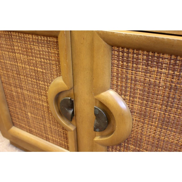 1950s Mid-Century Modern Paul Laszlo Credenza Sideboard Buffet Cane and Wood, 1950s For Sale - Image 5 of 9