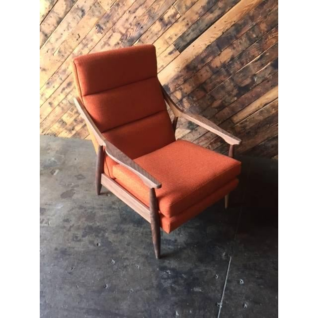 Custom Mid Century Lounge Chair With Ottoman - Image 6 of 6