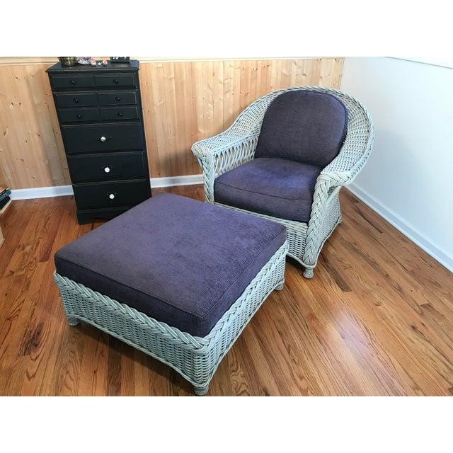 Purple Palecek Designer Lounge Chair & Ottoman - a Pair For Sale - Image 8 of 8