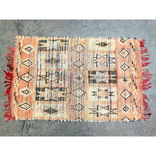 1950s Vintage Berber Handmade Rug- 2′9″ × 4′1″ For Sale - Image 5 of 11