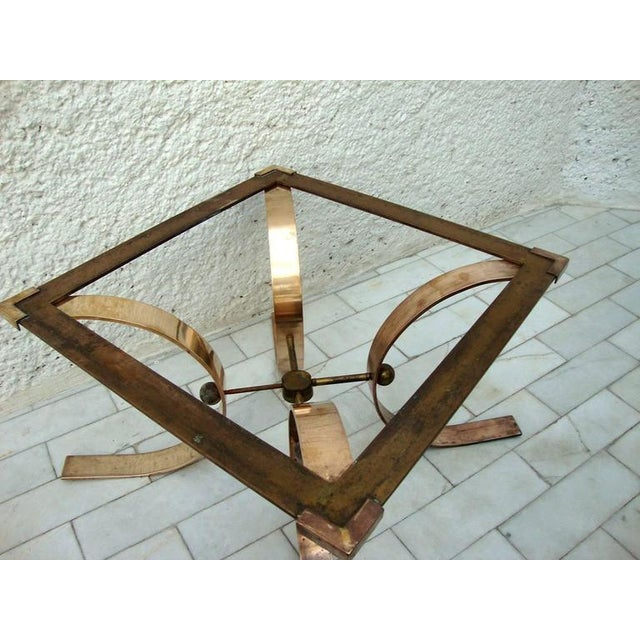 Brass Sculptural Side Table in Brass For Sale - Image 7 of 8
