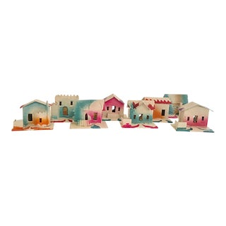 Village of 1930s Cardboard Houses, S/8 For Sale