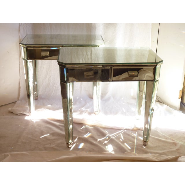 Mirrored Side Tables - A Pair - Image 5 of 10