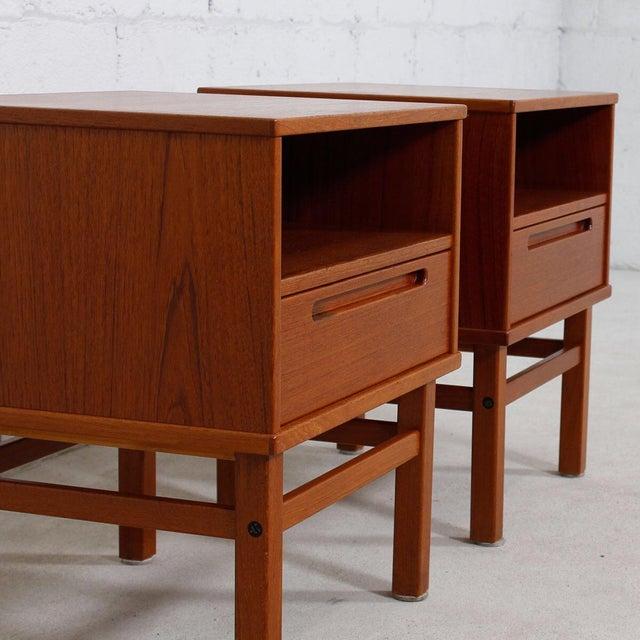 Torring Danish Modern Teak Nightstands/Side Tables - a Pair - Image 6 of 8