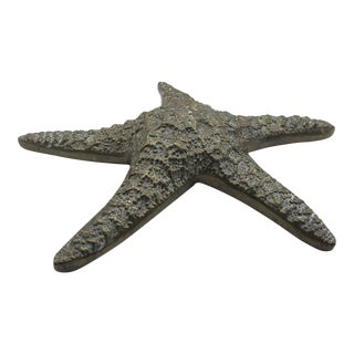 Large Brass Starfish Paperweight or Wall Hanging For Sale