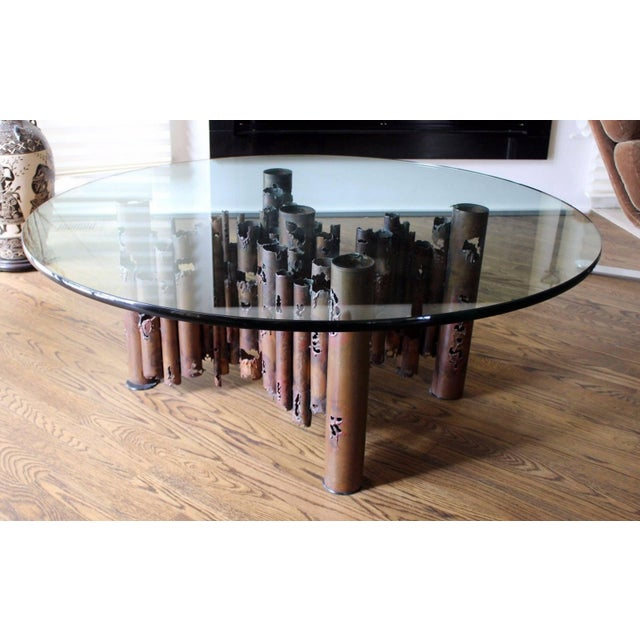 1950s 1950s Mid-Century Modern Brutalist Masciarelli for Regent Glass Coffee Table For Sale - Image 5 of 10