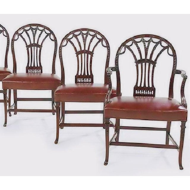 George III Style Dining Chairs - Set of 6 - Image 5 of 7