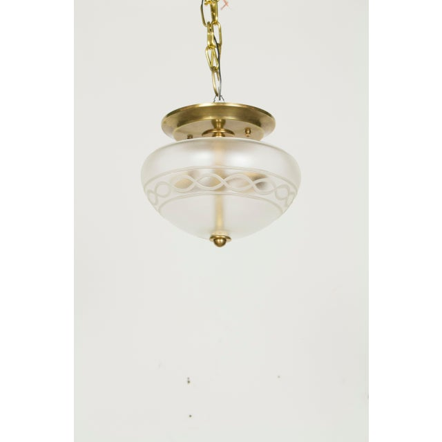 Traditional Vianne Glass Flush Mount Fixture For Sale - Image 3 of 3