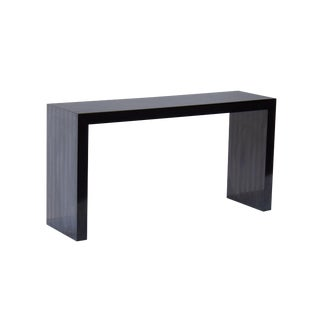 Parsons Console Table With a Black Tonal Stripe