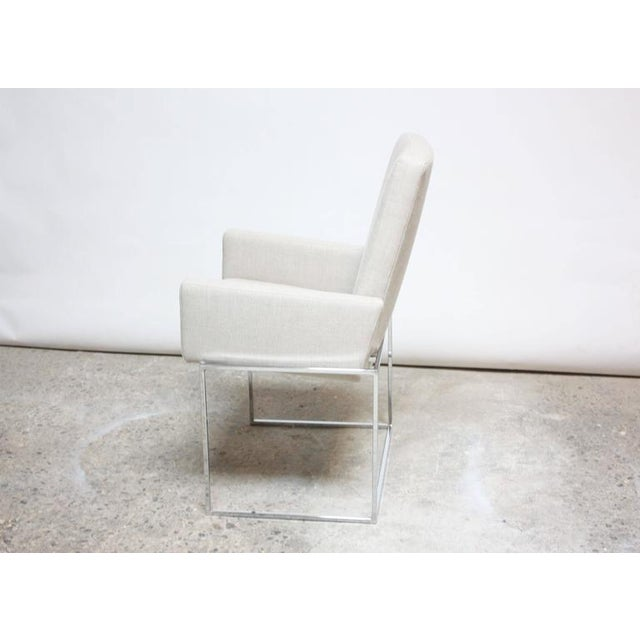 Set of Six Milo Baughman 'Thin Line' Chrome Dining Chairs - Image 4 of 11
