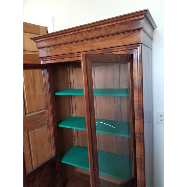 Louis Phillippe Bookcase Vitrine For Sale - Image 11 of 12