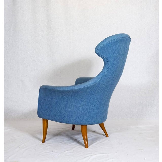 "1950s Kerstin Hörlin-Holmquist ""Stora Eva"" Chair For Sale - Image 5 of 9"