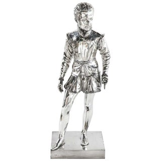 F. Barbedienne, a Life-Size Silvered Bronze of King Henri IV Enfant as a Child For Sale