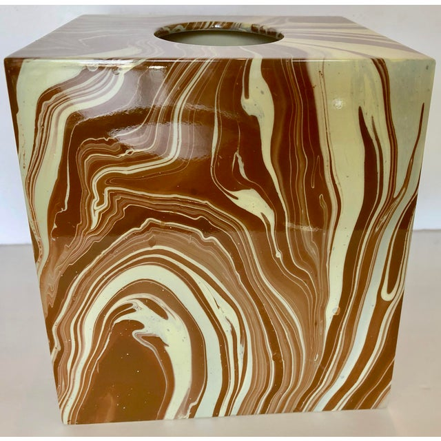Brown Oggetti Tissue Box and Soap Dish For Sale - Image 8 of 10