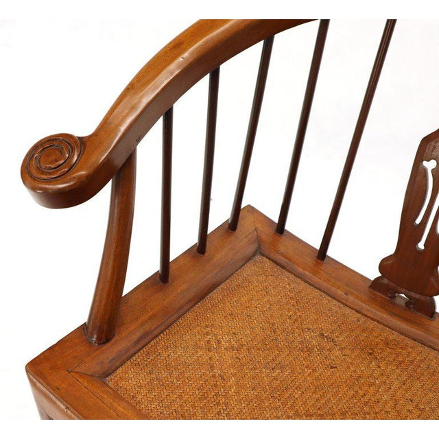 Wood 1970s Teak Horseshoe Back Lounge Chairs - a Pair For Sale - Image 7 of 13