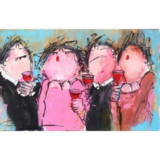 """Party in Pink"" Original Artwork by Gerdine Duijsens For Sale"