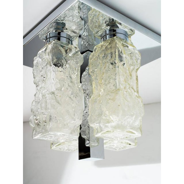 Brutalist Mid-Century Modern Flush Mount Chandelier by Kalmar For Sale In New York - Image 6 of 8