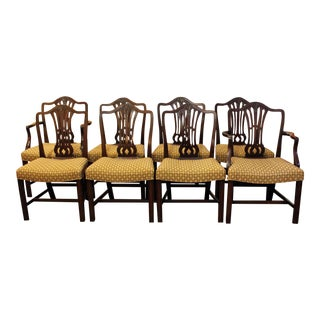 Late 19th Century Georgian Dining Chairs- Set of 8 For Sale