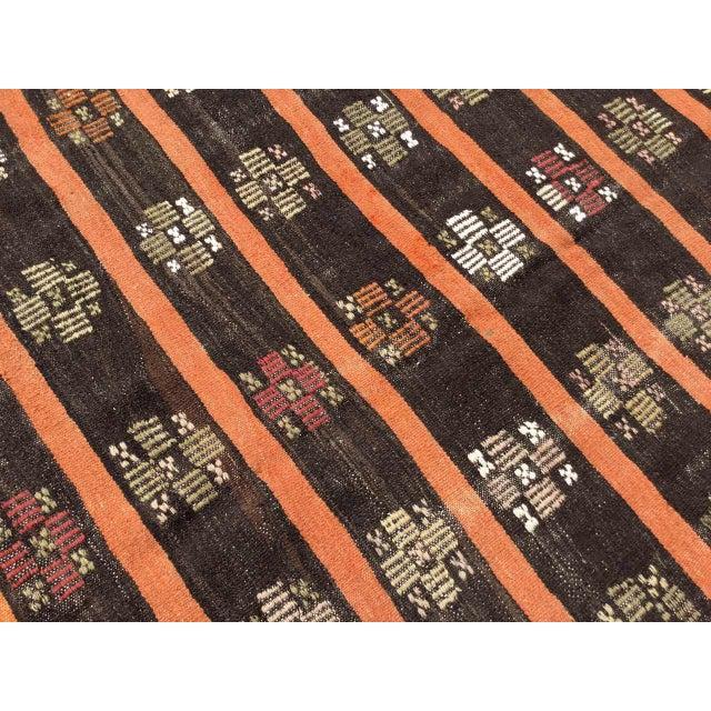 Vintage Turkish Kilim Rug For Sale In Raleigh - Image 6 of 11