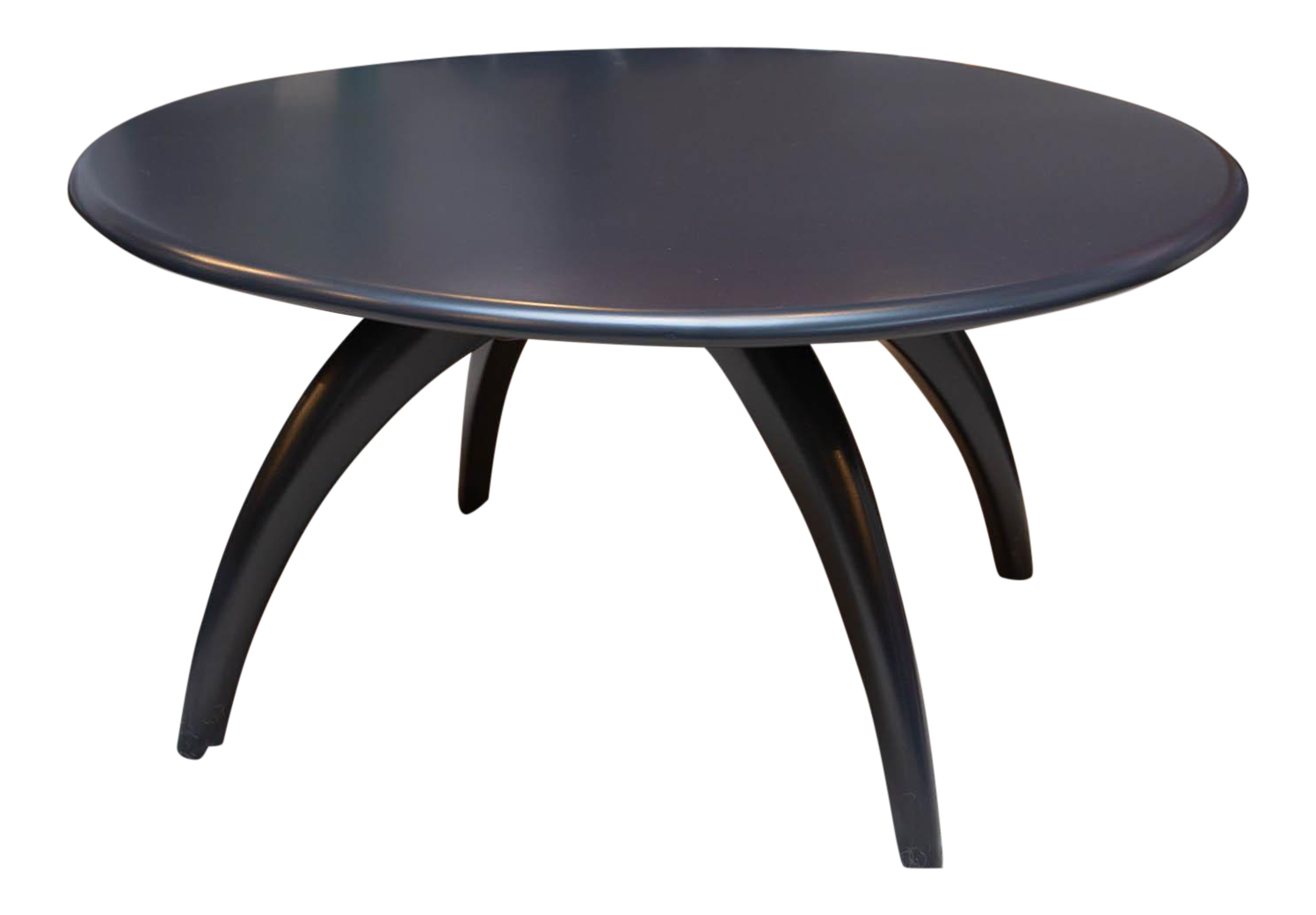 Round Lacquered Lazy Susan Coffee Table By Heywood Wakefield   Image 1 Of 7