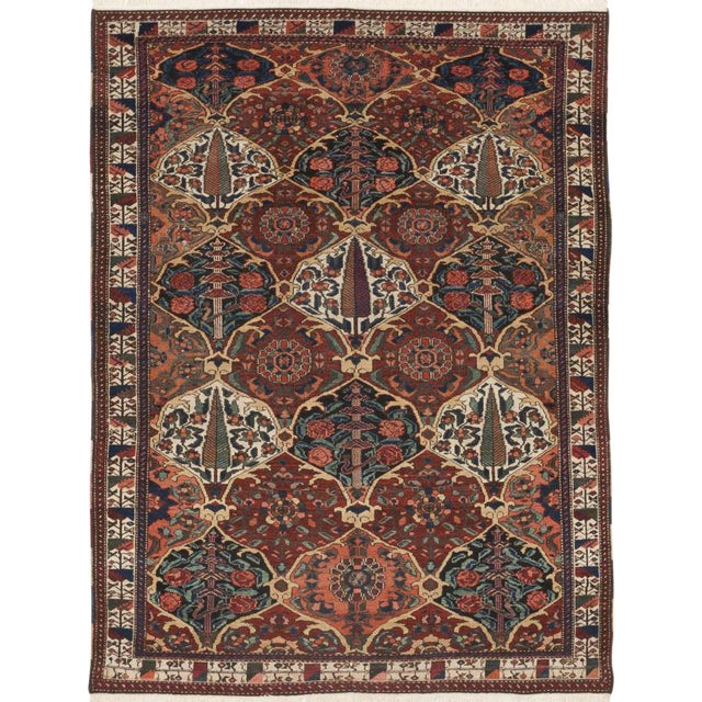 """Antique Persian Malayer Rug - 5'2""""x 7' For Sale"""