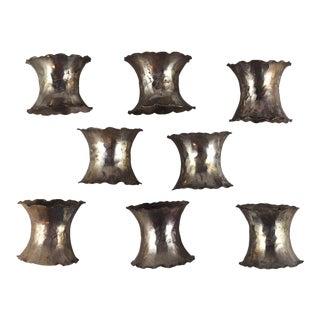 Scalloped Napkin Holders - Set of 8 For Sale